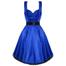 dress photo hearts and roses london blue satin 1950s dress plus size dresses