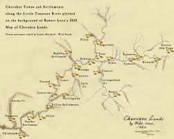 Georgia River Map Wild South Maps Cherokee