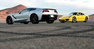 porsche 911 vs corvette track test 2014 corvette stingray vs 2013 porsche 911 s