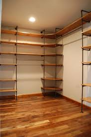 Steel Pipe Shelving by Appealing How To Build Shelves For A Closet Roselawnlutheran