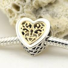 sterling silver heart bead bracelet images Pandulaso golden love heart lock beads sterling silver jewelry for jpg