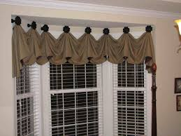 valances for bay windows bay window valance distinctive furniture marvelous kitchen bay window treatments design ideas with brown ruffle curtain and white iron trellis featuring beige colored wall attractive