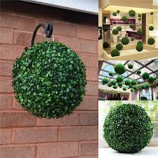 sale removable 35cm plastic topiary leaf effect grass trees