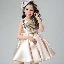 sequin crème royal kids party dress