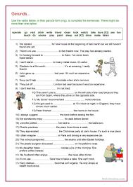 214 free esl gerund worksheets
