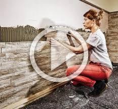 steinwand im wohnzimmer anleitung 2 verblender anbringen aus stein anleitung der hornbach