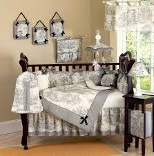 Jojo Baby Bedding Black Toile Baby Crib Bedding 9pc Nursery Set French Luxury