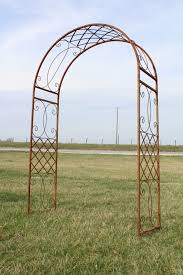 wrought iron fancy curl arbor trellis arch