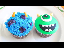 monsters inc mike and sully cupcakes youtube