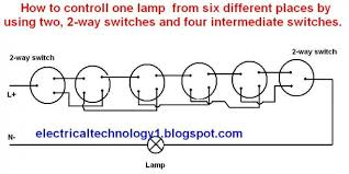 two way switch how to control one lamp from six places