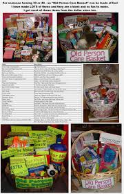 Funny Gift Baskets 30th Or 40th Birthday Gift Old Person Care Basket Totally Funny