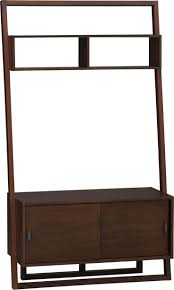 Easy Crate Leaning Shelf And by Furniture Showcase Your Tv Using Classy Crate And Barrel Media