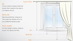 How To Calculate Curtain Yardage Measuring Window For Curtains Rooms
