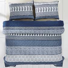 Country Quilts And Bedspreads Ceylon Indigo Quilt Country Farmhouse Bedding