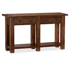 Benchwright Coffee Table by Benchwright Console Table Rustic Mahogany Pottery Barn