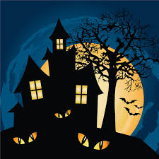 haunted house jigsaw puzzle in halloween puzzles on