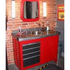 garage bathroom ideas sink vanity made from a rolling tool box caves