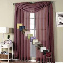 abripedic rod pocket sheer curtain