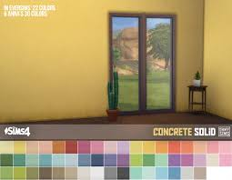 oh my sims 4 3 sets of concrete wallpaper works with all wall