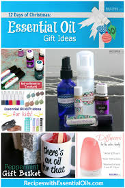 12 days of christmas essential oil gift ideas recipes with