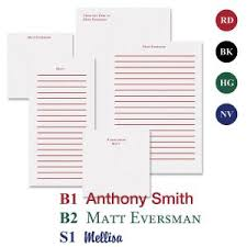 From The Desk Of Notepads Personalized Note Pads Monogram Note Pads Current Catalog
