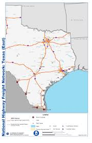 Louisiana State Map With Cities by National Highway Freight Network Map And Tables For Texas Fhwa