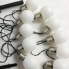 1x led solar powered led string light 4m 10 g50 bulb waterproof