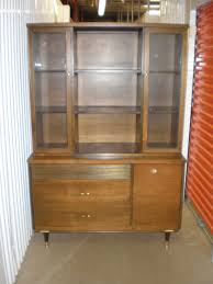 mid century china cabinet or vintage with queen anne legs and