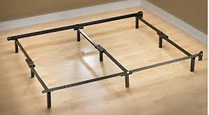 amazon com zinus compack adjustable steel bed frame for box