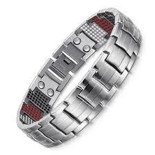 health bracelet titanium images Silver healing magnetic titanium balance health bracelet jpeg