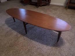 mid century modern surfboard coffee table danish modern mid century mersman surfboard coffee table perfect