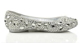wedding shoes size 11 silver bling bling flats diamond wedding shoes