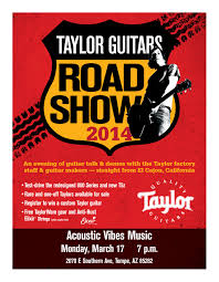 Smallpdf Taylor Guitars Road Show 2014 Acoustic Vibes Music