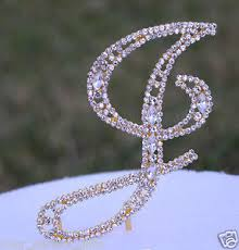 bling wedding cake toppers 5 rhinestone gold letter j bling wedding cake topper
