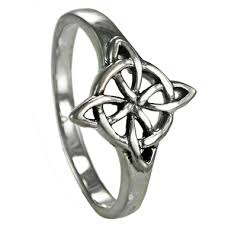 wiccan engagement rings sterling silver celtic quaternary wiccan witches knot ring