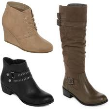 womens boots on sale jcpenney jcpenney com buy one pair of s boots get two free