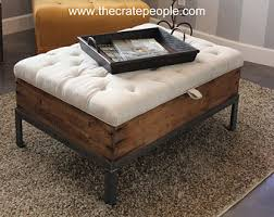 Storage Ottoman Coffee Table 3 Crate Drawer Tufted Ottoman Or Coffee Table By Thecratepeople