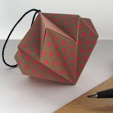 polka dots origami ornament by the origami boutique