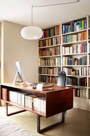 Inbuilt Bookshelf Mid Century Office With Inbuilt Bookshelves Decorating Ideas For