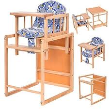 Toddler Feeding Table by 2 In 1 Solid Wooden Baby High Chair Feeding Infant Toddler Table