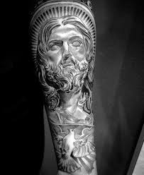 Forearm Tattoos Sleeve - 50 jesus forearm designs for ink ideas
