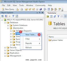 membuat database baru di sql server cara membuat database dan tabel sql server jagovb
