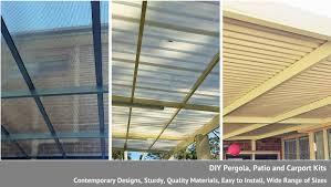 Solid Roof Pergola Kits by Diy Carport Pergola And Patio Kits