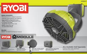ryobi fan and battery ryobi garage fan accessory gdm421 the home depot