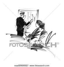 bureau des statistiques banque d illustrations dessin noir blanc illustration