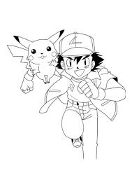 pokemon coloring printable pages pokemon ash and pikachu
