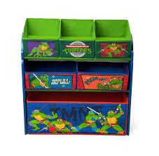 4 Tier Toy Organizer With Bins Nickelodeon Ninja Turtles Multi Bin Toy Organizer
