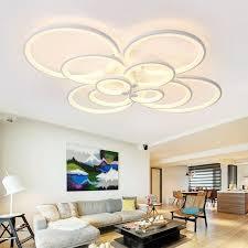 4 6 8 10 circular rings white circle acrylic ceiling lamp modern