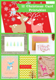 12 christmas card printables free downloads