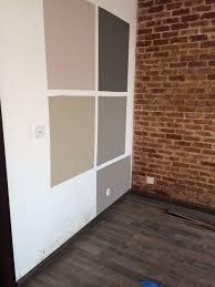 wall color next to brick wall